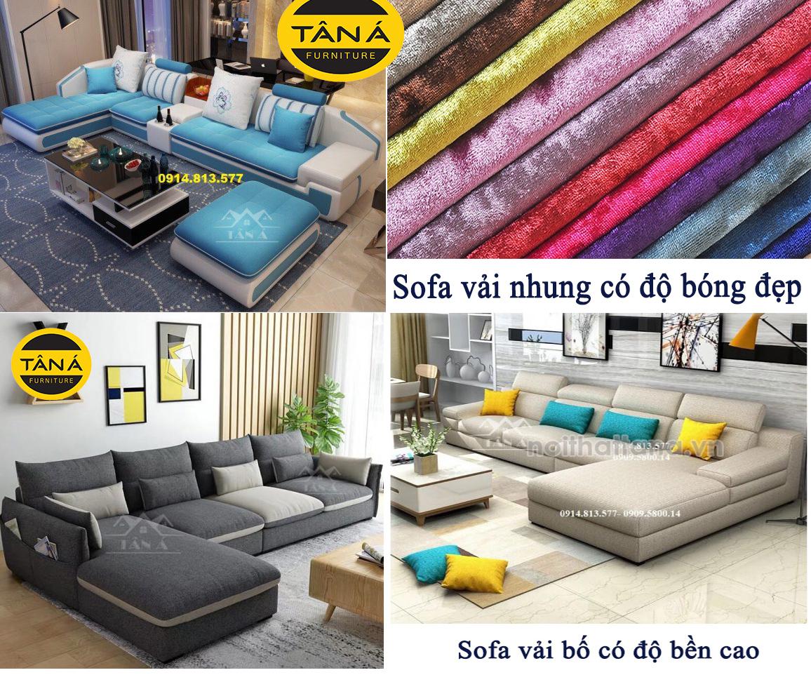 Nên chọn sofa vải bố hay sofa vải nhung