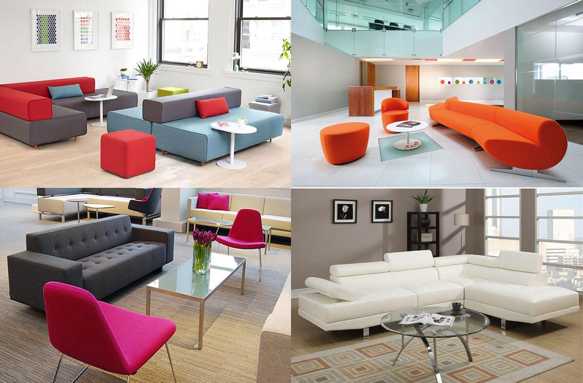 Mỗi một màu sắc sẽ là một ý nghĩa riêng cho sofa văn phòng nhỏ