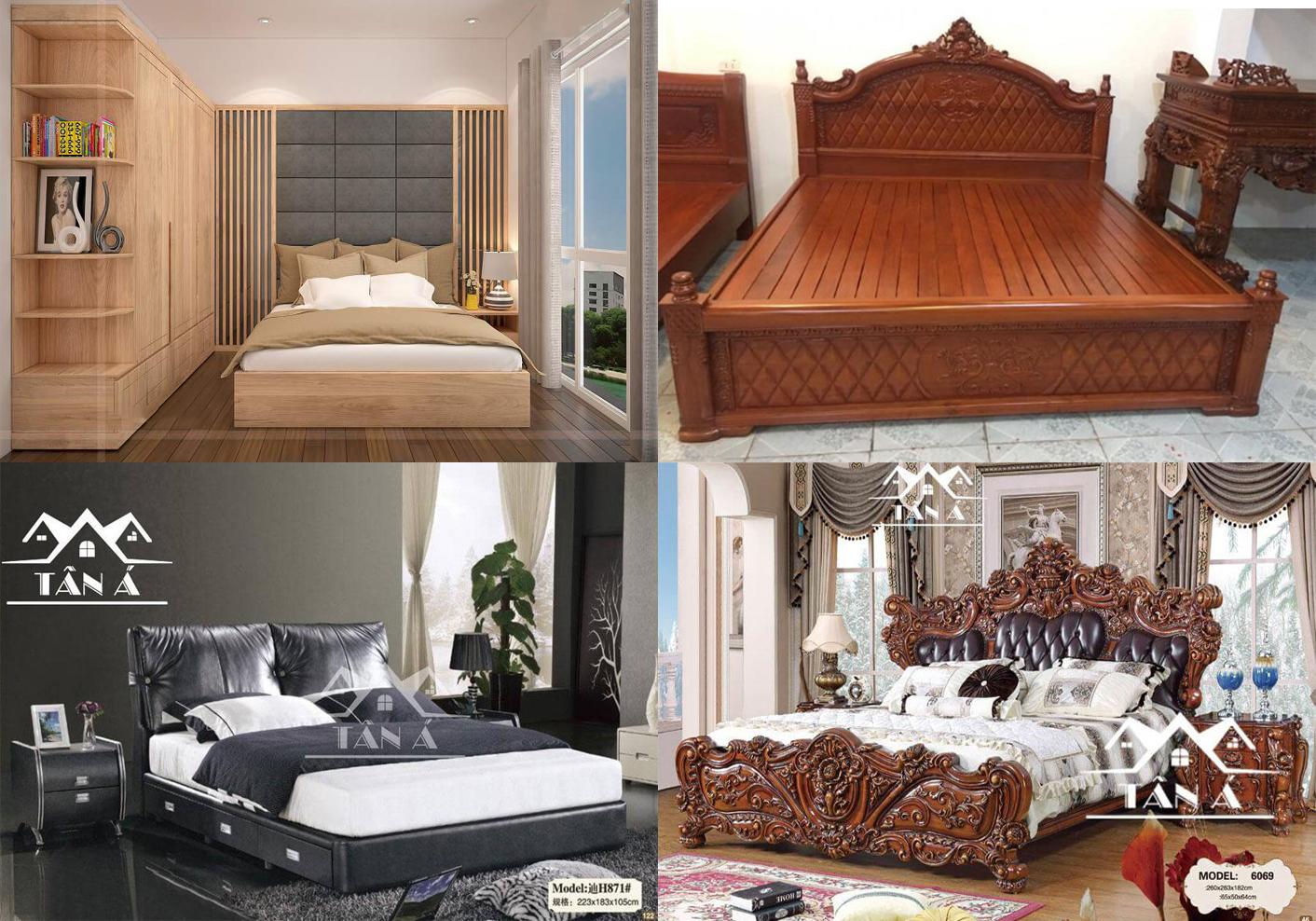 giường ngủ gỗ tự nhiên và giường ngủ gỗ công nghiệp