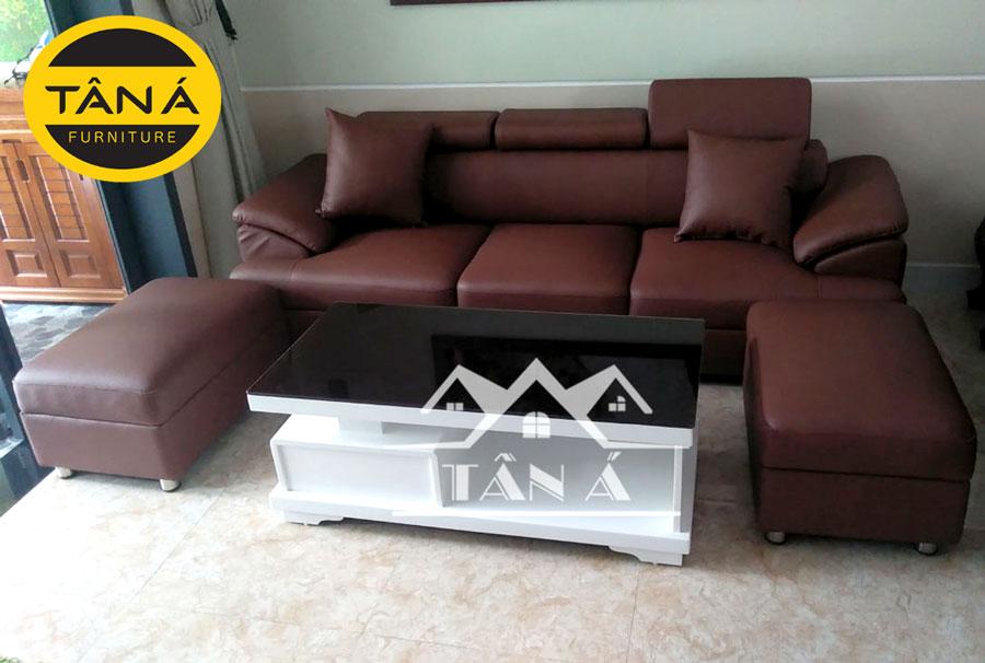 sofa phòng khách màu nâu đẹp hiện đại