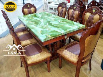 bàn ăn mặt đá tân cổ điển