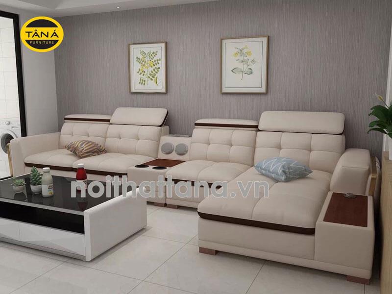 bộ bàn ghế sofa da
