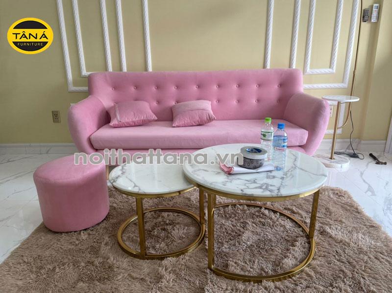 mẫu sofa vải nhung