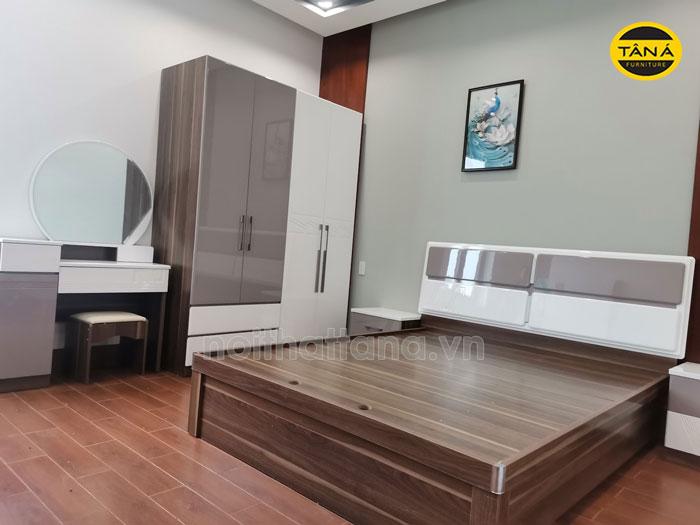 giường ngủ hiện đại gỗ công nghiệp