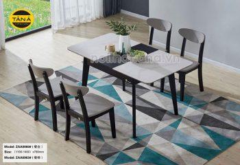 mẫu bàn ăn thông minh gấp gọn 4 ghế