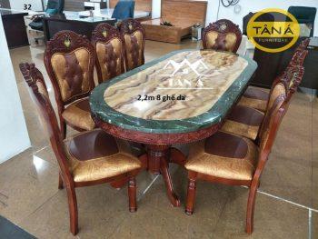 bàn ăn oval nhập khẩu đài loan