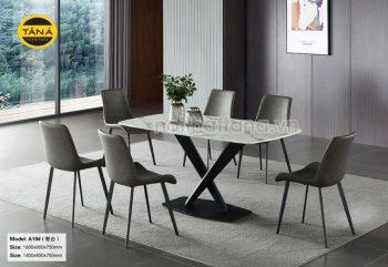 bàn ăn hiện đại mặt đá