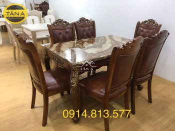 bàn ăn tân cổ điển 6 ghế nhập khẩu