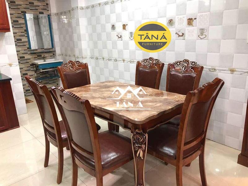bàn ăn tân cổ điển 6 ghế