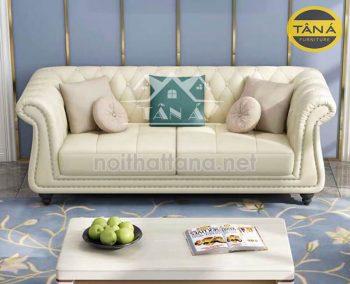 sofa băng màu kem sang trọng