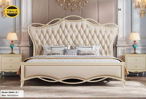 giường ngủ tân cổ điển nhập khẩu cao cấp
