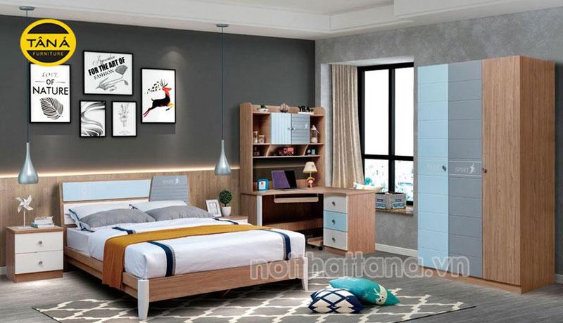 combo giường tủ bàn học cho bé