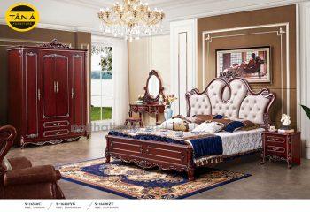combo giường tân cổ điển bàn phấn