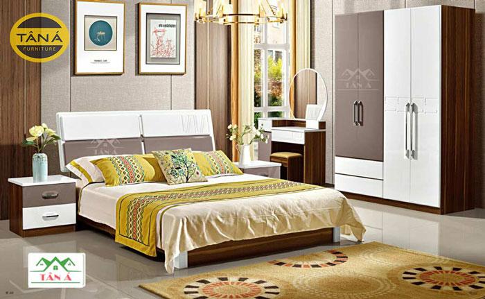 bộ giường ngủ hiện đại nhập khẩu