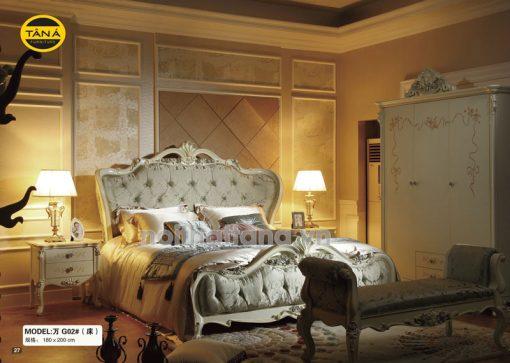 giường tân cổ điển nhập khẩu đài loan TA-G02