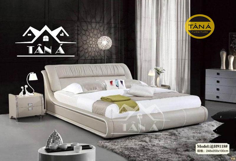 giường ngủ bọc da hiện đại