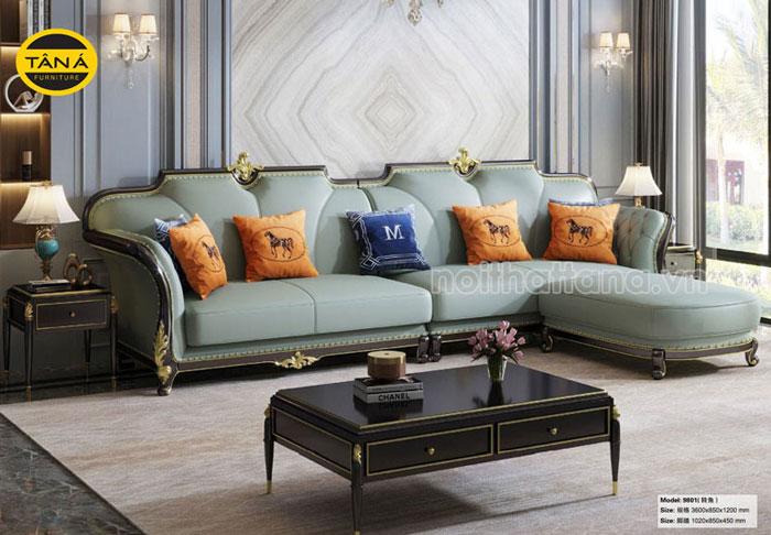 sofa da tân cổ điển
