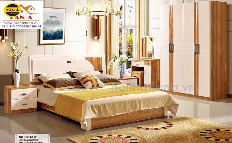 combo giường tủ hiện đại nhập khẩu