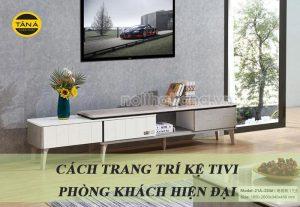 Cách trang trí kệ tivi phòng khách hiện đại