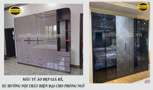 Mẫu tủ áo đẹp giá rẻ, xu hướng nội thất hiện đại cho phòng ngủ