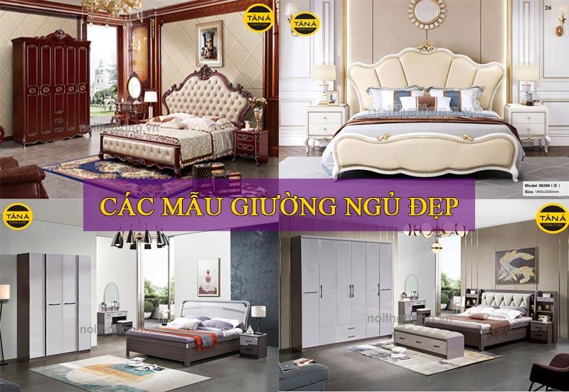 Các mẫu giường nhập khẩu đẹp